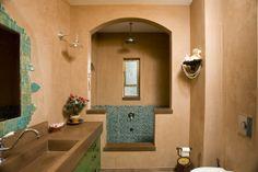 בית שתכננתי בטבעון. חדר רחצה קסום בו אמבט בנוי בנישה. החדר מטוייח בטיח טאדלאק Home Renovation, Mirror, Architecture, House Styles, Furniture, Design, Home Decor, Bathrooms, Interiors