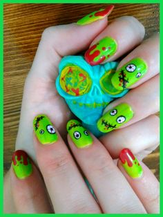 nails Shellac zombie halloween