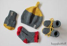Hand Knitted Merino Colour-block Baby Set, Knit Merino Wool Baby Beanie Booties Mittens Socks Set in Mustard, Knit Baby Merino Mustard Set Knitted Booties, Baby Booties, Knitted Hats, Colour Block, Color Blocking, Crochet Gifts, Knit Crochet, Baby Mittens, Baby Blocks