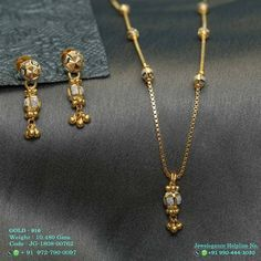 Image may contain: jewelry Jewelry Design Earrings, Gold Earrings Designs, Gold Jewellery Design, Labret Jewelry, Terracota Jewellery, Gold Pendent, Gold Chain Design, Gold Mangalsutra Designs, Gold Jewelry Simple
