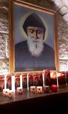 Saint Charbel, Lebanon ❤️ St Charbel, Religious Icons, Orthodox Icons, All Saints, Priest, Jesus Christ, Christianity, Catholic, Pray