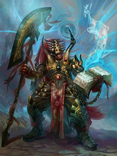 """My depiction of Magnus the Red, Primarch of the Thousand Sons legion, peering into the Warp. Loosely based on written descriptions found in the novel """"A Thousand Sons"""". Warhammer 40k Art, Warhammer Fantasy, Warhammer Models, Thousand Sons, Inspiration For The Day, Game Workshop, The Grim, Space Marine, Fantasy Art"""