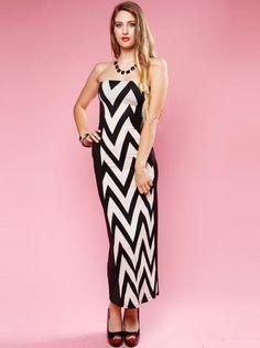 CHEVRON MAXI DRESS | Shop Dresses at Papaya Clothing