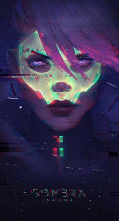 Sombra Fan Art by z-a-i-n-a.deviantart.com on @DeviantArt - More at https://pinterest.com/supergirlsart #overwatch #fanart