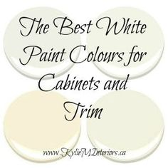 Awesome The 3 Best White Paint Colours For Cabinets. Kitchen Cabinet Paint  ColorsBest ... Part 23