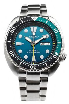 """Amazon.com: SEIKO PROSPEX 200M Diver's """"Green Turtle"""" Limited Edition Watch SRPB01K1: Watches"""
