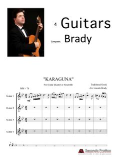 """Arranged for Guitar Quartet/Ensemble. Premiered at the """"Adelaide Spring Classical Guitar Festival, the festival's guitar orchestra. Great for High School guitar ensembles, Guitar Society Orchestras, and World Music ensembles. Greek, Classical Guitar, World Music, High School, Musica, Grammar School, High Schools, Greece, Secondary School"""