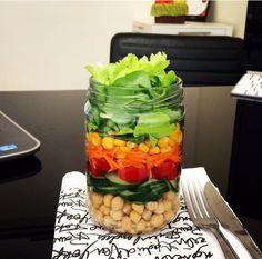 Salada no pote!