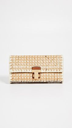 Love this cool clutch from Shopbop! The perfect accessory for spring! Tory Burch, Summer Minimalist, Work Travel, China Fashion, Powerful Women, Rattan, Latest Fashion, Personal Style, Leather