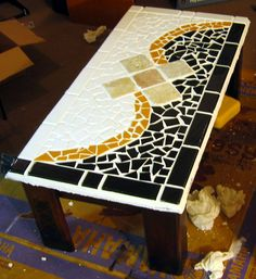 tile tables | coffee table i started with an unfinished pine coffee table and ...