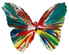 Damien Hirst, 'Butterfly Spin Painting (Created at Damien Hirst Spin Workshop)', 2009