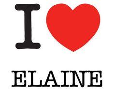 I Heart Elaine #love #heart