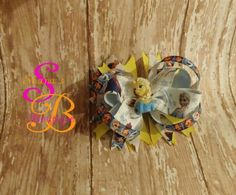 elsa hair bow made by Shana's Boutique