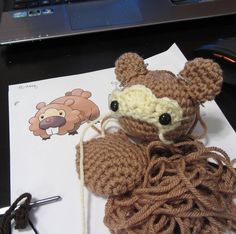 korlista Back to working on crocheted Pokemon for the next few days! Today's projects include working out a brand new design for Bidoof!  #pokemon #pokemon20 #pokemonsun #pokemonmoon #oras #crochet #crochetersofinstagram #fiberart #amigurumi #plush #plushie #yarn #crafts #handmade #etsy #gaming #videogame #nintendo #anime #cute #kawaii #geek #cosplay #fanart #corlista #korlista #bidoof #beaver #normalpokemon