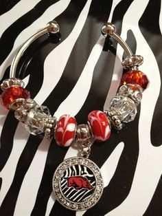 Arkansas Razorbacks Fan Bracelet
