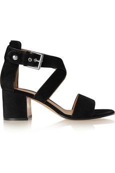 cd96dbf2e95 Gianvito Rossi - Suede sandals. Black Mid Heel ShoesBlack Block ...