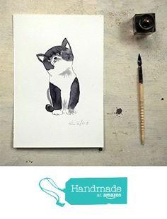black cat portrait original ink painting - animal art - wall art - gift for cat lovers from vumap http://www.amazon.com/dp/B016SH28Q2/ref=hnd_sw_r_pi_dp_-mRiwb1K44VR1 #handmadeatamazon