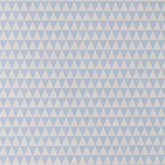 Baumwolle Hellblau/Sand Dreiecken
