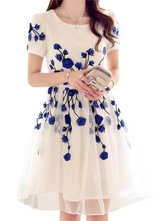 Cheap and cheerful. Love the royal blue embroidery