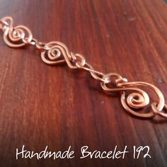 Handmade Jewellery and Accessories | Wire Wrapped by Milena Nyx: Hammered copper wire bracelet 192
