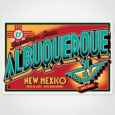 The Eddie Vedder Albuquerque Postcard Print is a 16 x 24, 4 color screen print, signed and numbered edition of 50. These prints are limited and...