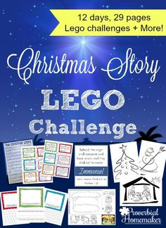 Are you looking for an easy and fun way to focus on Christ this Christmas? Do you have kids who LOVE to build with Legos? The Christmas Story Lego Challenge is a fun activity for a variety of ages! Lego Activities, Christmas Activities, Christmas Traditions, Christmas Crafts, Christmas Ideas, Lego Christmas, Christmas Printables, Christmas Stuff, Christmas Recipes
