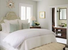 Benjamin Moore Healing Aloe love the simplicity of the room!