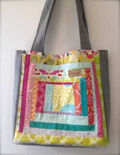Quilted patchwork bag by juanitashandmade