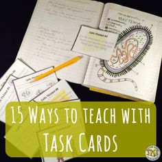 Here are 15 versatile tips for including task cards into your secondary science classroom - we love to use them in group settings and as warm-ups and exit tickets. What's your fave?