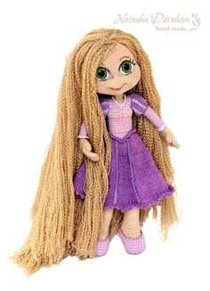 Crochet doll with extra long hair. (Inspiration).