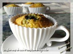 Gourmande sans gluten: Muffins à la noix de coco et confiture de myrtille...
