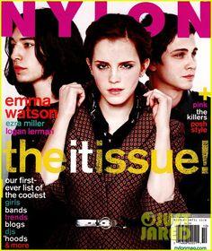 Emma Watson, Ezra Miller, & Logan Lerman | 'Nylon' Magazine | October 2012