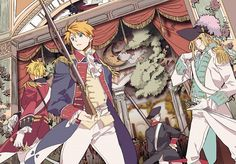 """Hetalia - America France England Prussia. this is really cool! suddenly a """"pirates of carribean"""" music played in my heaaaadd XDXD"""