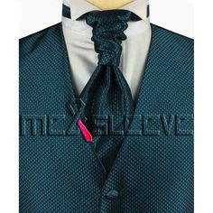 hot sale free shipping small check hunter green  waistcoat (vest+ascot tie+cufflinks+handkerchief)