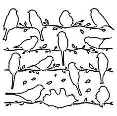 Vogels, raamversiering