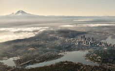 One of the best views of Seattle I've ever seen [1920x1197] : unitedstatesofamerica