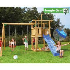 Leikkitorni Jungle Gym® Hut+Swing