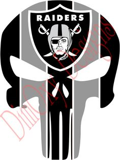 Oakland Raiders Punisher Vinyl Decal Sticker Full Color Decals for walls, boats, or any other flat surface. Outdoor rated for up to 7 years! Punisher Stickers, Cheap Screen Printing, Oakland Raiders Football, Raider Nation, High Quality T Shirts, Vivid Colors, Vinyl Decals, Tops, Prints