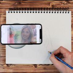 Art Drawings Sketches Simple, Pencil Art Drawings, Art Projector, Diy Canvas Art, Art Techniques, Art Tutorials, Diy Art, Art Lessons, Amazing Art
