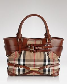 Burberry Tote - Bridle House Check Medium Lynher | Bloomingdale's