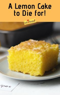 I really like the fresh lemon flavor in food. If you are a lemon fan too, you sh. - I really like the fresh lemon flavor in food. If you are a lemon fan too, you should make this magi - Cake Mix Desserts, Lemon Dessert Recipes, Cake Mix Recipes, Pound Cake Recipes, Lemon Recipes, Just Desserts, Delicious Desserts, Easter Desserts, Yummy Food