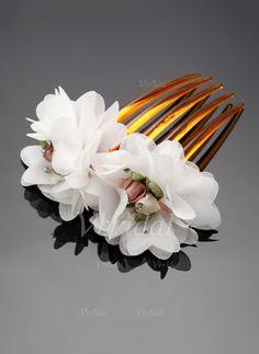 Accessoires de coiffure - $5.10 - Strass/Fleur en soie Des peignes et barrettes (0425060586)