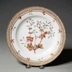 Plate ROYAL DANISH PORCELAIN FACTORY (DANISH, COPENHAGEN, b. 1774–PRESENT) C. 1861-1863