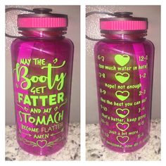 crafts diy water May the BOOTY get Fatter and my Stomach become Flatter Water Bottle with Tracker Funny Water Bottle, Water Bottle Tracker, Water Bottle Crafts, Gallon Water Bottle, Cute Water Bottles, Best Water Bottle, Water Bottle Design, Gym Bottle, Glitter Water Bottles