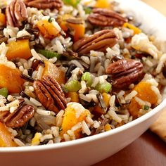Mix up the Thanksgiving menu with a rice stuffing. The nutty flavor and hearty texture of brown and wild rice goes great with turkey.