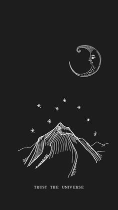Iphone Wallpaper - Trust the Universe // Android and Iphone Walpaper- Wallpaper Animé, Aesthetic Iphone Wallpaper, Aesthetic Wallpapers, Wallpaper Designs, Wallpaper Samples, Black Wallpaper, Iphone Wallpaper Universe, Good Vibes Wallpaper, Witchy Wallpaper