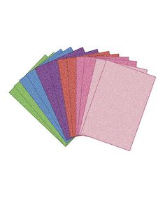 Take a look at this Pastel Glitter Sticky Back Foam Sheet Set by Darice on #zulily today! $9 !!