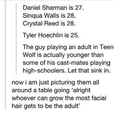 And shelley is 30! She's Derek's niece and a high schooler and is 5 years older than him