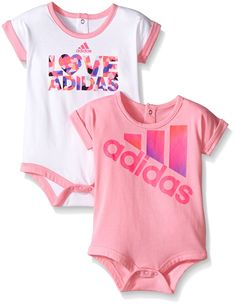 Adidas Baby Girls' Single and 2 Pack Bodysuits *** Check this awesome image : Baby clothes