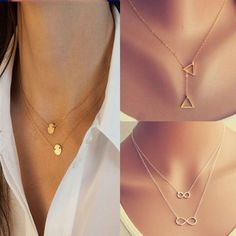 Celebrity Jewelry Infinity Choker Statement Bib Charm Chain Necklace Pendant New #2014FashionTrendyCelebrity #InfinityChunkyStatementBibNecklace